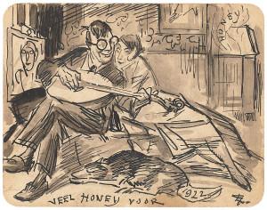 L.-Gestel-1881-1941-Veel-honey-voor-1922-Adriaan-en-Miep-Lubbers-Inkt-en-gewassen-inkt-gem.-r.o.-9-x-11-cm-