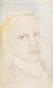 C.-De-Neree-tot-Babberich-1880-1909-Zelfportret-Potlood-en-aquarel-33-x-205-cm