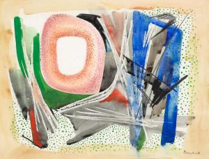 D.-Breetvelt-1892-1975-Abstracte-compositie-gouache-krijt-en-aquarel-50-x-65-cm-ges