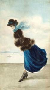 H.-Somm-1844-1907-Elegante-sur-la-plage-aquarel-31-x-18-cm-ges.-en-ged.-1883