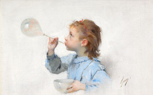 H.J.J.-Geoffroy-1853-1924-Fillette-a-la-bulle-de-savon-olie-op-doek-177-x-274-cm-ges-r.o.-