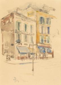 J.-van-Heel-1898-1990-Parijs-stadsgezicht-potlood-en-aquarel-31-x-23-cm-ges.-l.o.-en-ged.-1938-Parijs