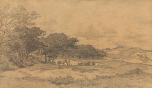 J.E.H.-Akkeringa-1861-1942-Duinafgraving-zwart-krijt-30-x-49-cm-ges.-r.o.-