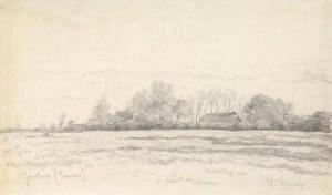 W.-Roelofs-1822-1897-Landschap-te-Eemnes-houtskool-29-x-48-cm-ges.-r.o.