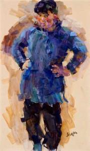 R.-Strasser-1895-1974-Chinees-meisje-gouache-49-x-295-cm-ges.-r.o.