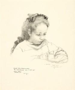 W.-Sluiter-1873-1949-Jopie-leest-pen-en-inkt-27-x-22-cm-ges.-en-gedat.-1913