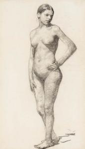W.B.-Tholen-1860-1931-Staand-naakt-zwart-krijt-59-x-35-cm-gem.-r.o-ca.-1888