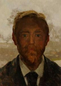 W.B.-Tholen-1860-1931-Zelfportret-olieverf-op-paneel-32-x-25-cm-ges.