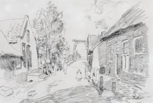 W.B.-Tholen-Dorpsgezicht-met-ophaalbrug-28-x-40-cm