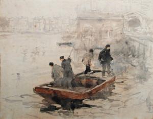 Tholen-hofvijver-aquarel