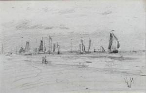 Mauve-strandgezicht-met-boten
