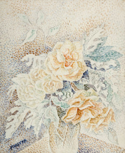 Marevna ( 1892 - 1984 ), aquarel en potlood, 40 x 33,5 cm, ges.