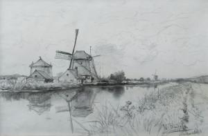 Roelofs,-W-Landschap-met-molen
