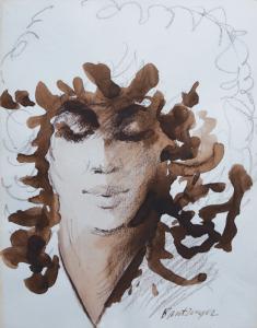 Bantzinger,-vrouwenportret