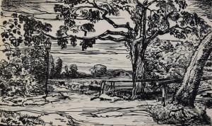 Valk-vd---ets-landschap-met-bomen-en-lantaarn