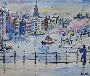 Hordijk-Damrak-met-rondvaartboten